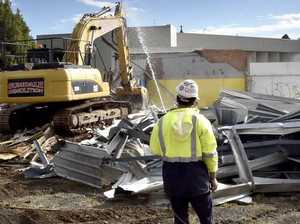 Service station demolished