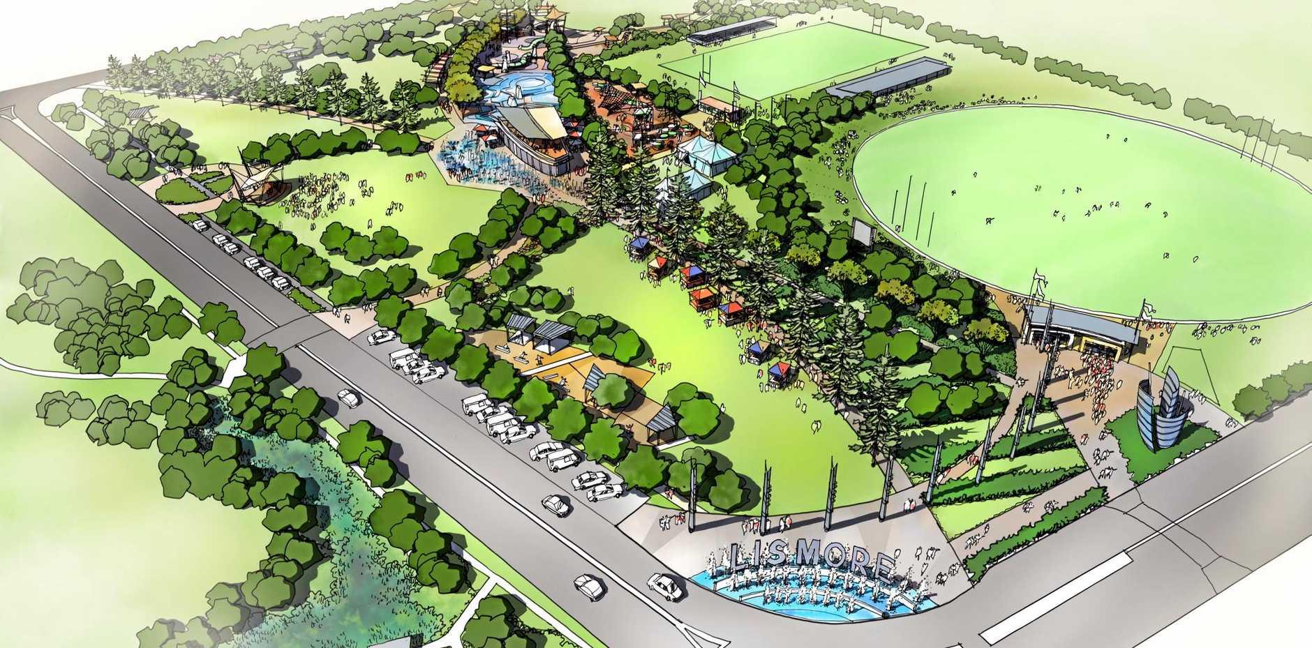 LISMORE PARK: Plans for the $21.5 million plan for Lismore's own 'central park'.