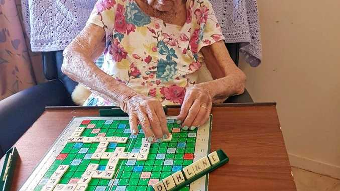 GOOD SPELLER: Micky Davis will be 104 on Monday and still loves a game of scrabble.
