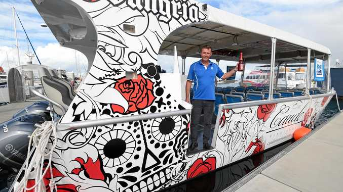 PICK OF THE BUNCH: Chris Hough from BtB Marine on board the 12m vessel built for Caudo Vineyards on the Murray River.