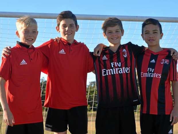 Mackay juniors Samuel Biki, Ethan Van Kerkwyk, Ashton Smith and Robert Parker learnt a lot when they played for Australia on the AC Milan Italy tour.