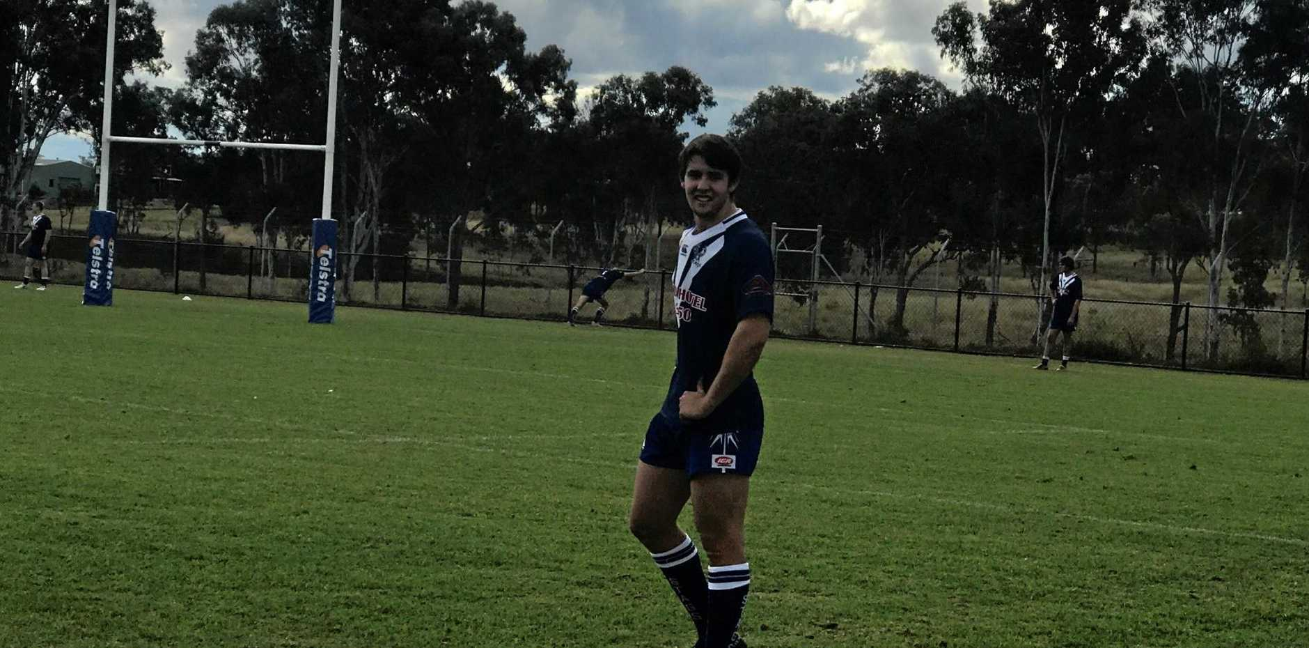 YOUNG BUCK: Jackson Mladenovic played his debut game of A Grade football with the Nanango Stags at the Weekend.