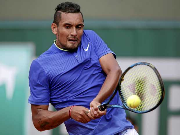 Nick Kyrgios will play American world No.50 Donald Young in the first round of the Queen's Club championship.