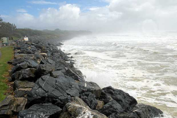 Waves up to four metres have been predicted from a low pressure system developing in the Tasman Sea.