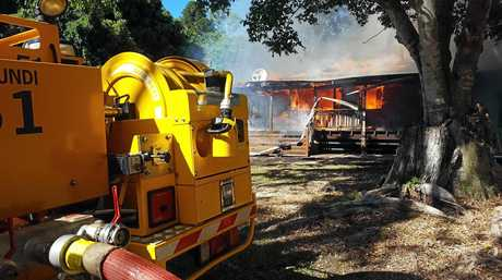 Dave Rivers' family home is gutted by fire at Eerwah Vale.