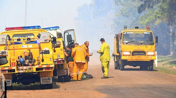 BUSH FIRE: Rural and urban fire services were called to the the Calvos region South Bundaberg last year.