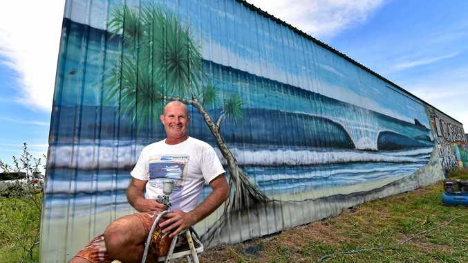 Artist Owen Cavanagh is back on the Sunshine Coast after a more than 10 year hiatus.