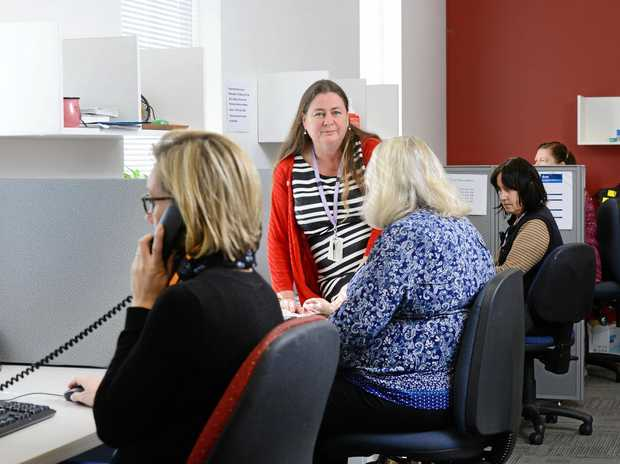 ANYTIME HELP: Director Acute Services Michelle Giles inside the now 24/7 mental health support call centre at Ipswich Hospital.