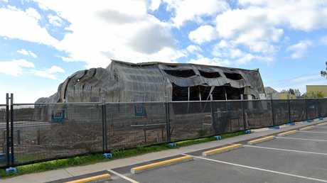 Remains of the Maroochy Beach Gymnastics Club after it was destroyed by fire.