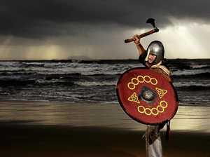 Vikings shift camp after heavy rains