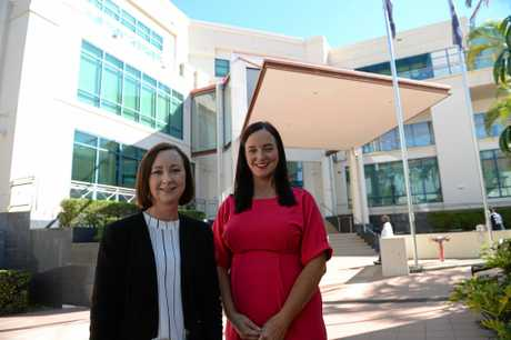 OVERHAUL: Attorney-General Yvette D'Ath and Brittany Lauga outside Rockhampton Courthouse announcing a $12 million upgrade.