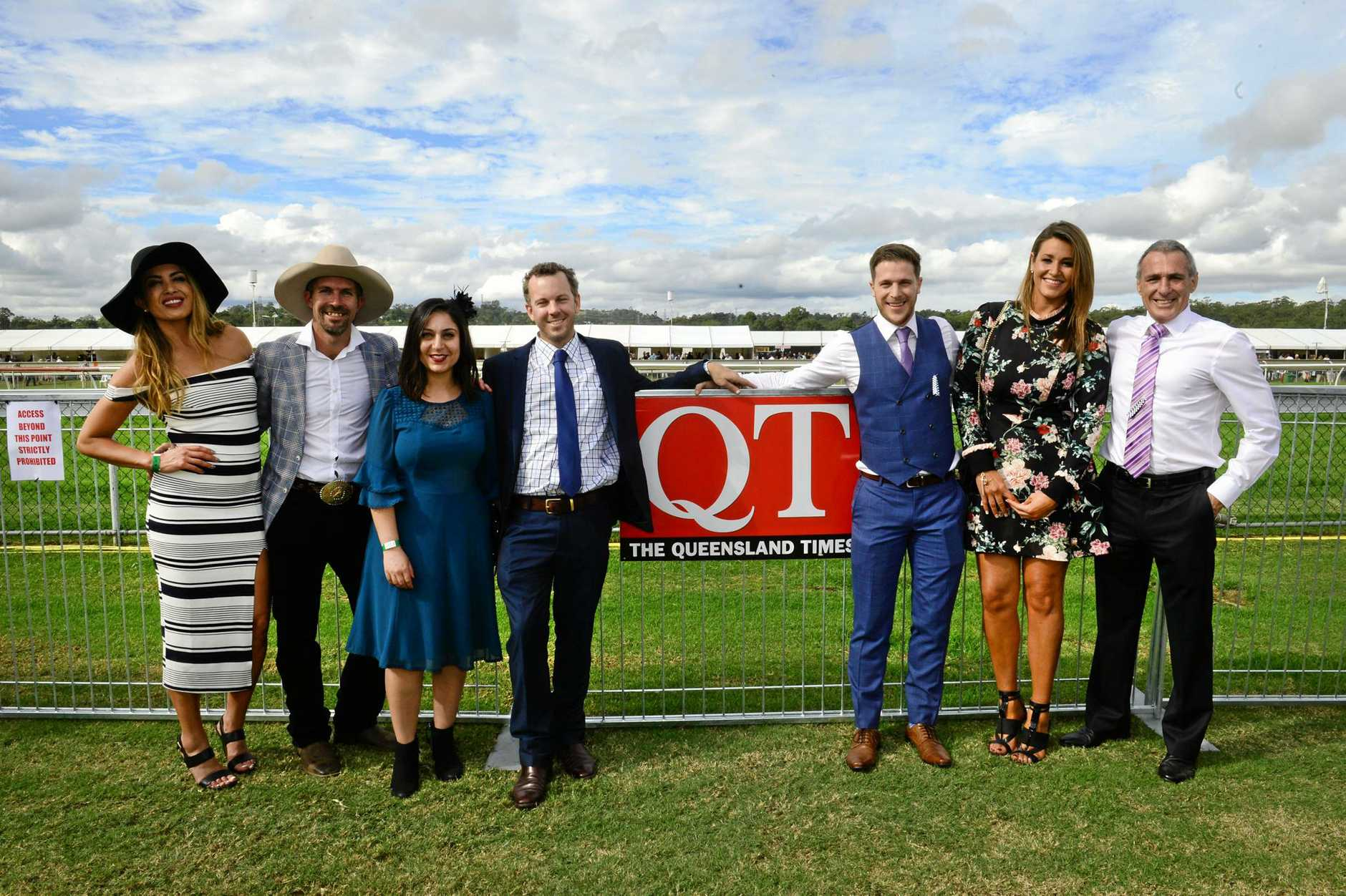 CUP STARS: Married at First Sight's Nadia, Sean, Alene, Simon, Jesse, Lauren and John.