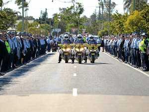 Police Officer Brendan Poustie's funeral