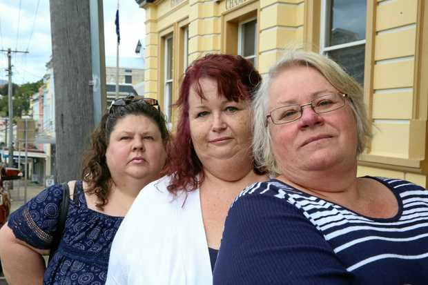 CHASING MONEY: Debbie Fisher, Lyne Johnson and Jeanette Gerhard feel cheated by education provider SmartCity.