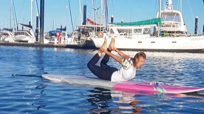 Paddleboard Yoga in Mackay.