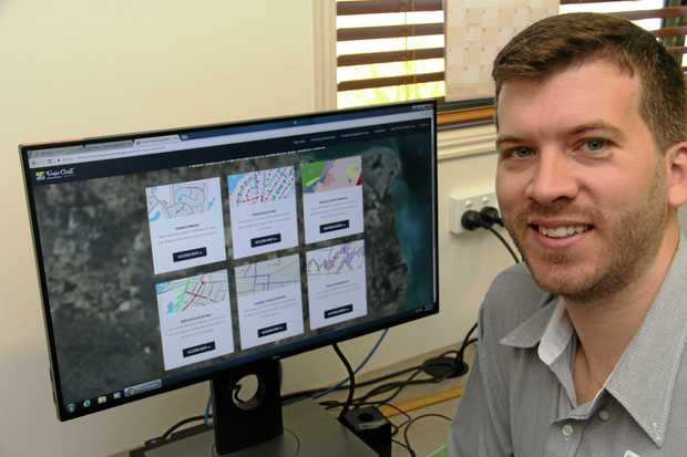 EASY MAPS: Innovation, Aviation and Communications Portfolio Councillor Paul Truscott tries his hand at Council's new mapping system.