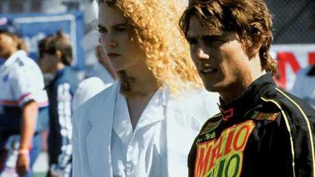 Nicole Kidman and former husband Tom Cruise in 'Days of Thunder'.
