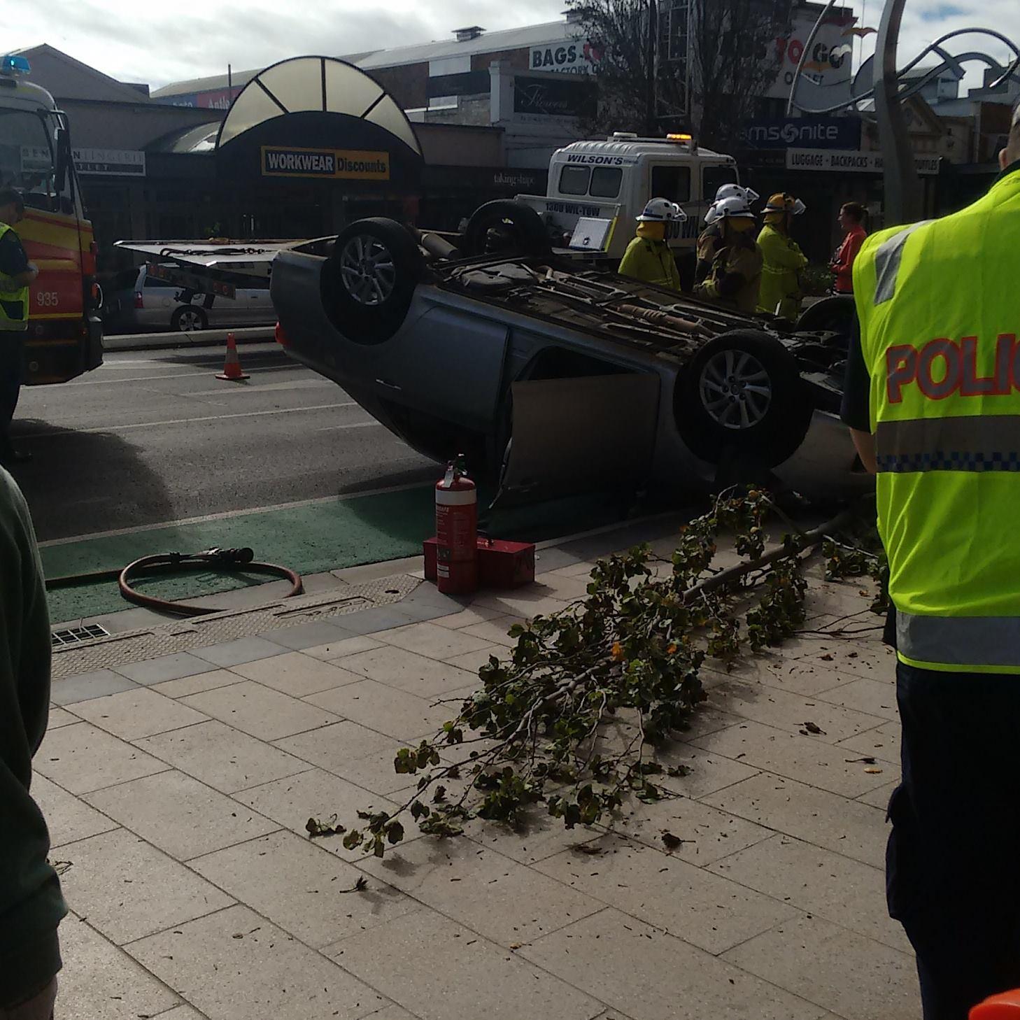 The scene of the crash near Grand Central.
