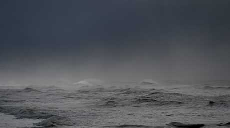 Stormy weather conditions battered the coast this morning.