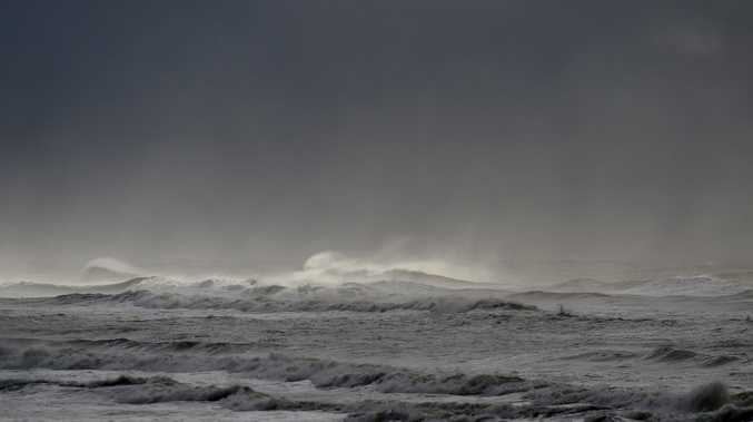 Stormy weather conditions battered the coast this morning at Lennox Head.
