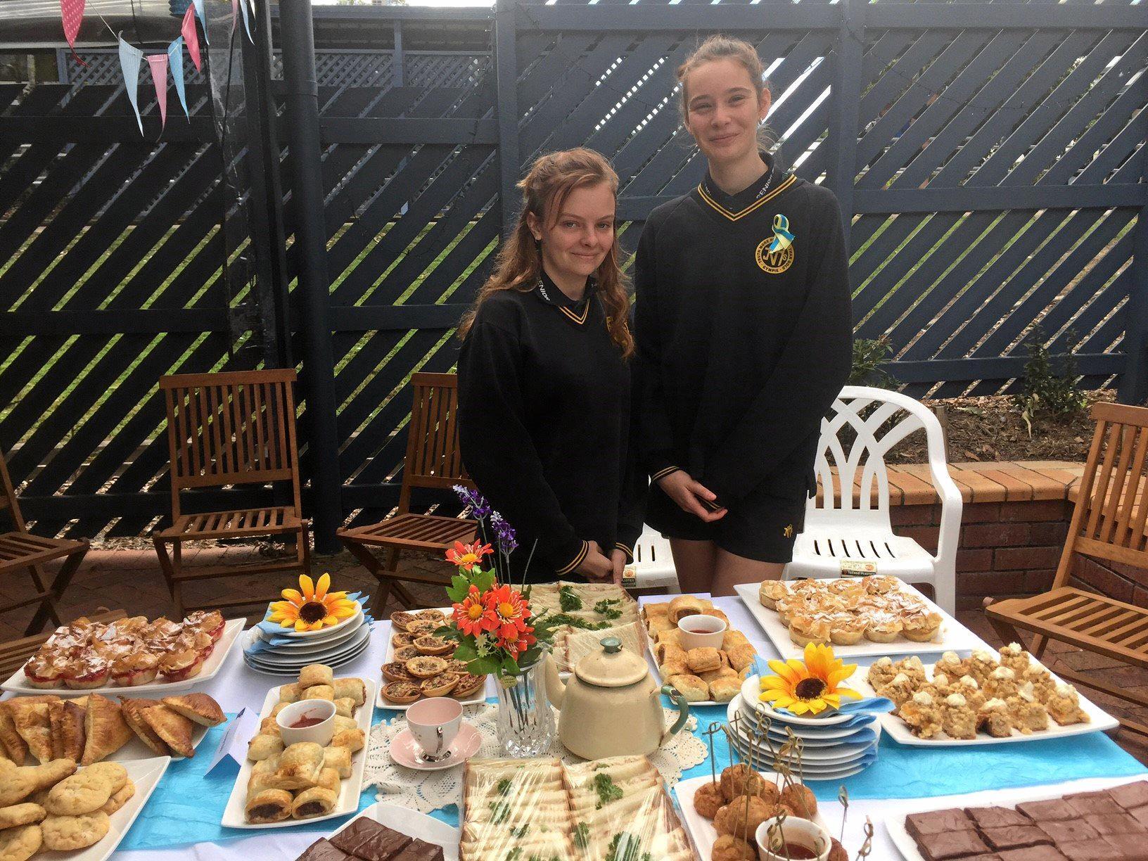 Year 11 Hospitality students Paige Jackson and Ateisha Hutchings-Ryan