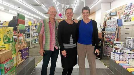 Richard Morrow and his partner, Wendy Coates with Sarah Morrow.