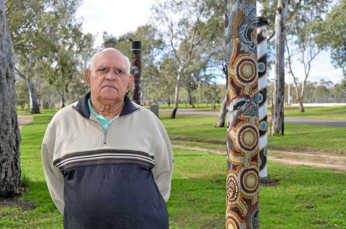 HONOURING HISTORY: Githabul senior elder Sam Bonner talks about the history of the Githabul people in Warwick.