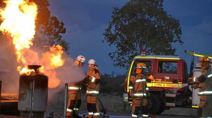 FIRE TRAINING: Gayndah and Biggenden crews training with gas fires in Gayndah.