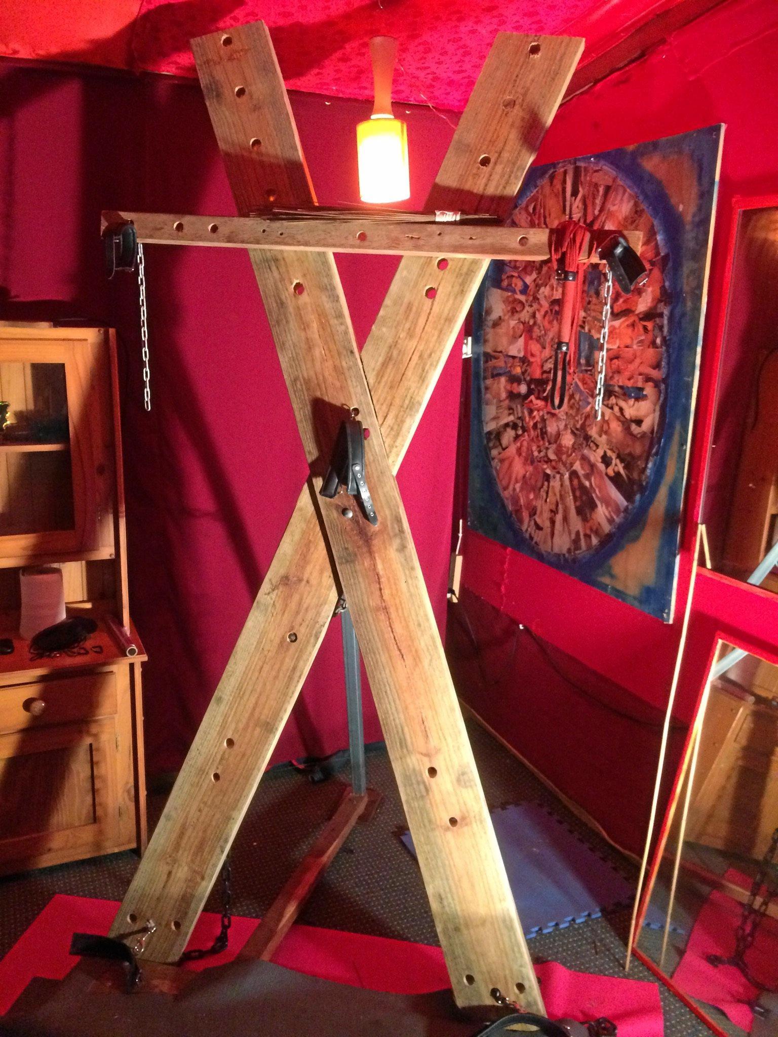 Inside Noosa Edge Nudist Retreat's new 'bondage room'.