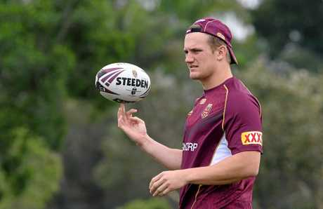 Coen Hess during the Queensland State of Origin team training session on the Gold Coast, Friday, June 16, 2017. (AAP Image/Dave Hunt) NO ARCHIVING