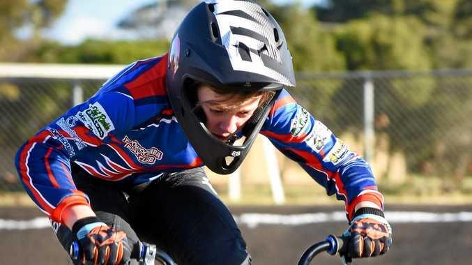 ON TRACK: Toowoomba BMX Club rider Emma Stevens.