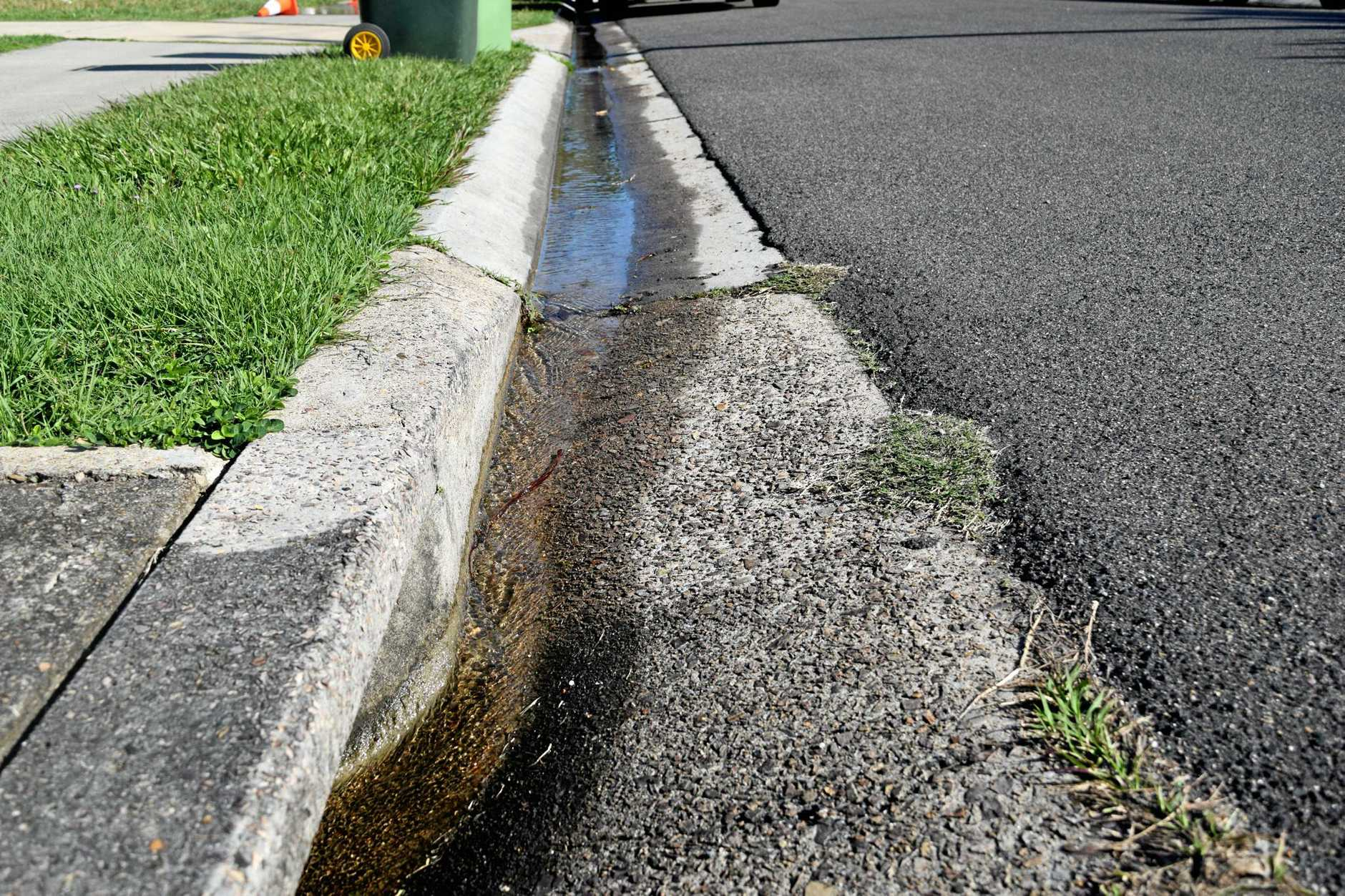 Maroochydore residents are disappointed by the amount of time it has taken Unitywater to fix a leaking pipe in Gardak St.