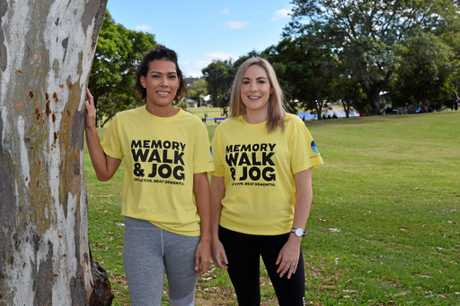 GOOD CAUSE: Ipswich Hospital admin officer Neradene Savuro and registered nurse Claire Robertson are calling for people to register for the 5km Memory Walk and Jog.