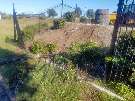 Police are looking for an alleged thief or thieves who stole an excavator from a Bundamba business.