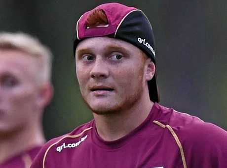 Toowoomba's Travis Turnbull trains with the Queensland under 18 team ahead of their game against New South Wales.