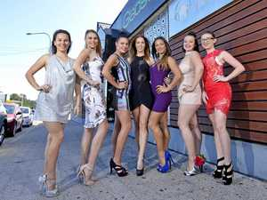 GLAMOUR GIRLS: (L-R) Emma Jordan, Kara Burns, Alysha Tille, Leahker Shaw, Alannah Belfit, Tahlia McMillan, Anne Sunderland will compete against each other for the chance to become the Face of Origin.