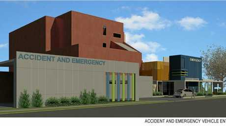 Artist's impression of the upgraded Maryborough Hospital revealed yesterday by the State Government.