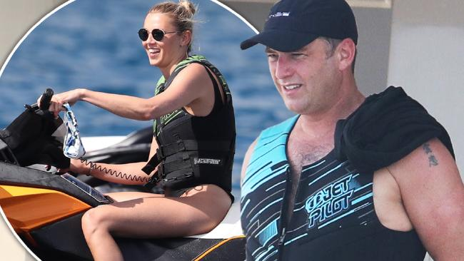 Karl Stefanovic and Jasmine Yarbrough soak up the sun in Bora Bora.