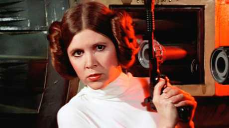 Carrie Fisher in her iconic role as Princess Leia in Star Wars.