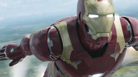 Robert Downey Jr.'s Iron Man.