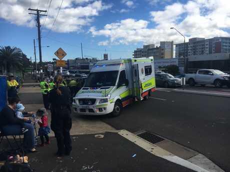 Paramedics at the scene of the crash.