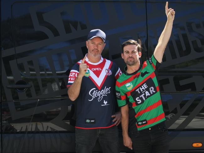 Pat Davern and Phil Jamieson wearing their true colours.