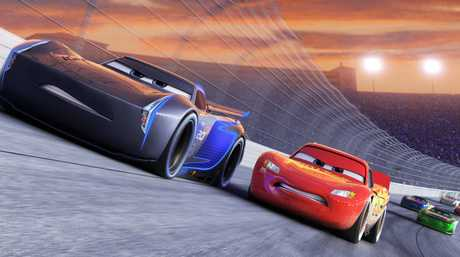 A scene from the movie Cars 3.