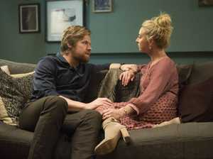 Alexander England and Asher Keddie in a scene from season seven of Offspring.