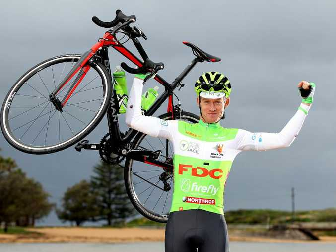 FOR JASE: Ben Woods, 31, will ride through Hervey Bay tomorrow as part of an 18,000km bike ride in honour of his late brother Jason. Photo: Martin Lange.