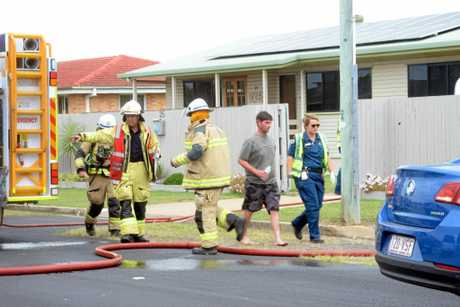 Bundaberg Fire and Rescue officers attended a house fire in Blamey St yesterday.