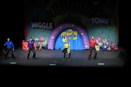 STAGE SHOW: The Wiggles dancing up a storm.