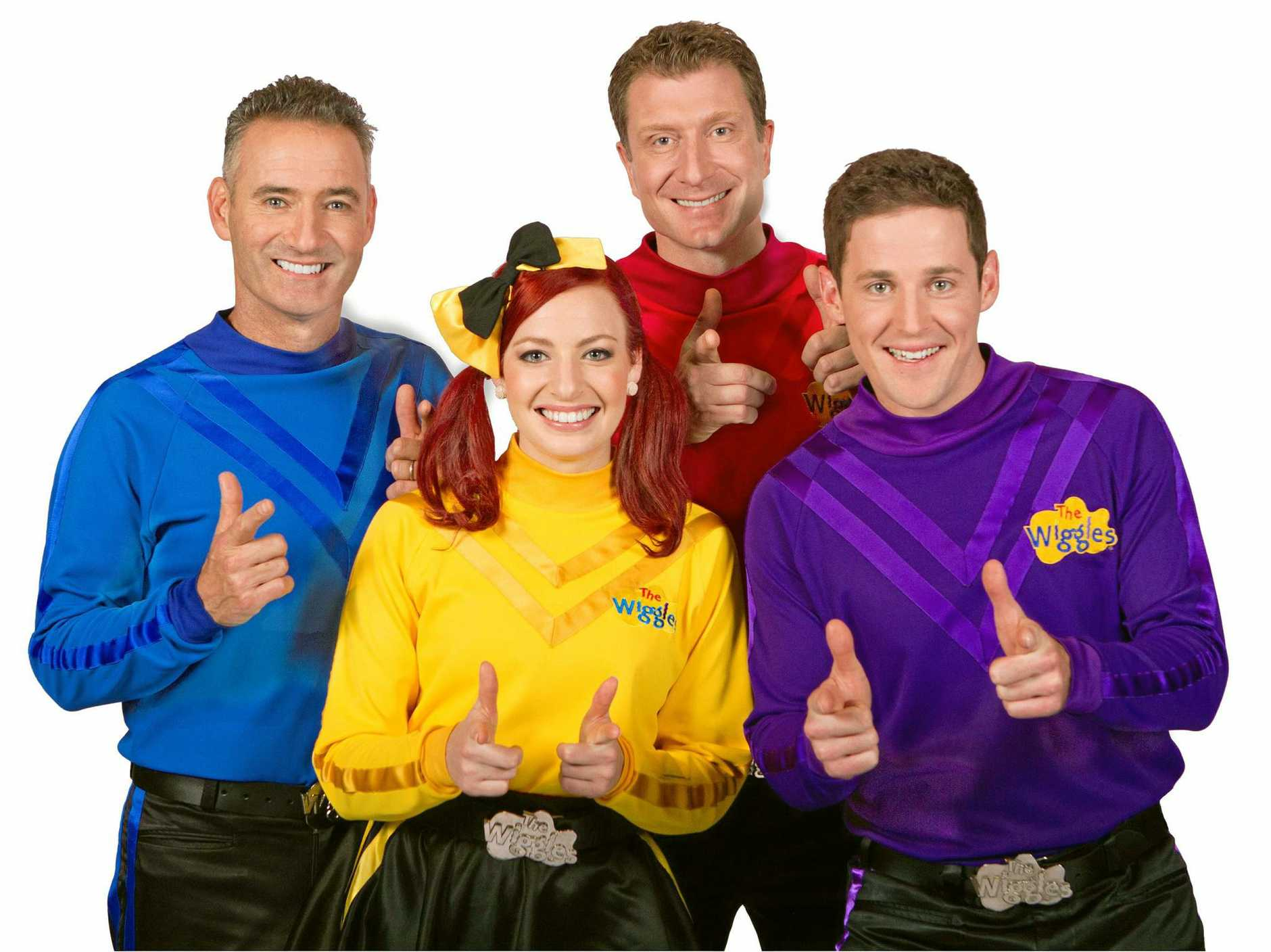 BUNDY BOUND: The Wiggles, Anthony Field, Emma Watkins, Simon Pryce and Lachlan Gillespie, are on their way to Bundaberg.