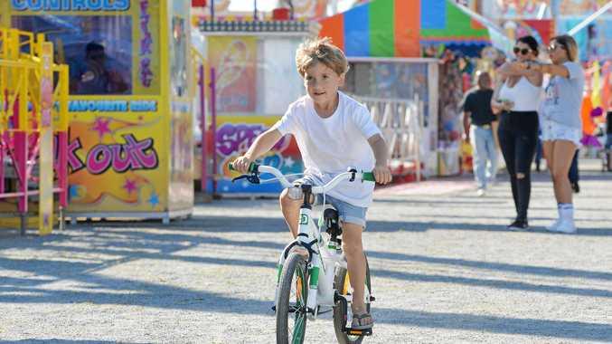 Benson Platt, 4, enjoyed riding around at the Mackay Show.