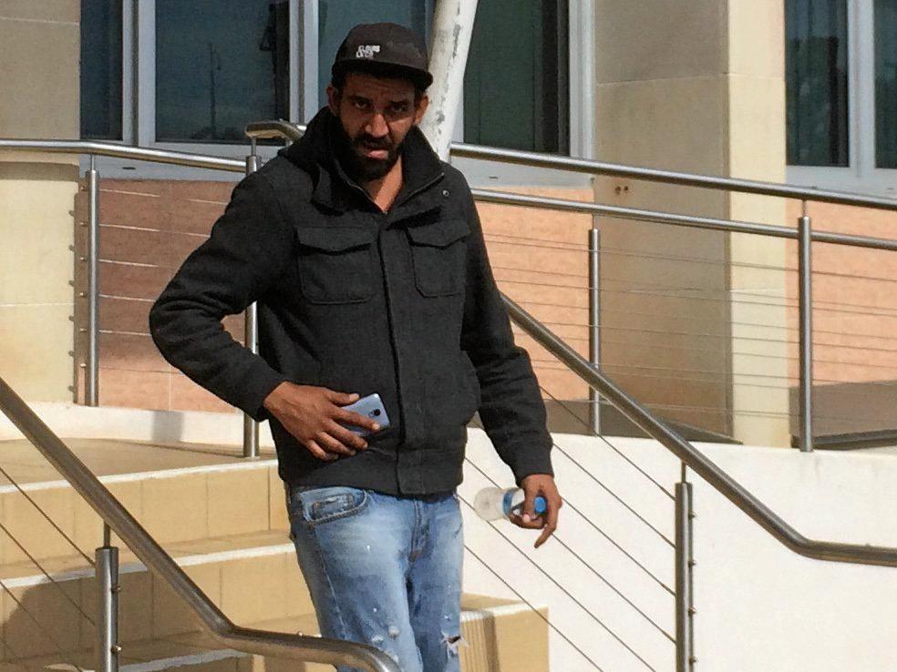 CAUGHT OUT: Dancer Dean Ingra leaving Bundaberg Court.